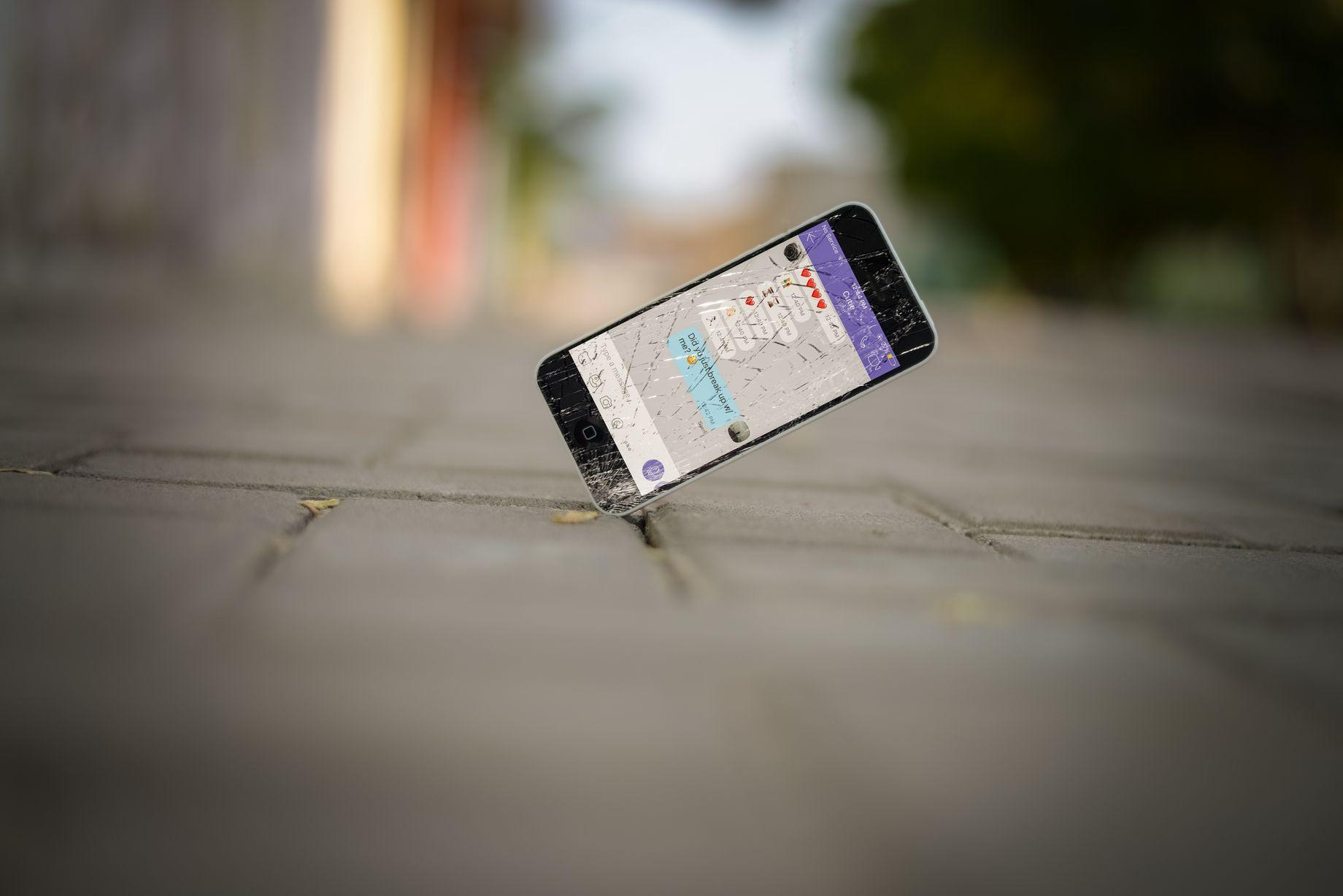 iphone op grond gevallen